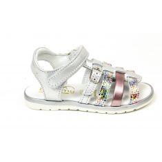 BELLAMY sandales Mini argentées à scratch