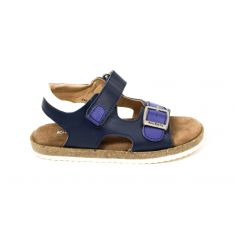 KICKERS sandales funkyo pour garçon marine à scratch