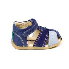Kickers sandales garçon Bigbazar 2 bleues à scratch