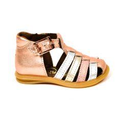 Bellamy sandales fille playa couleur cuivre à boucle