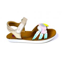 SHOO POM sandales fille Goa toucan multicolores à scratch