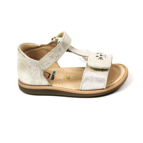 SHOO POM sandales fille Tity miaou dorées à scratchs