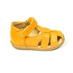 Sandales garçon Shoo Pom Pika be boy jaunes à scratch