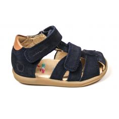 Shoo Pom sandales garçon Pika bleues à scratch