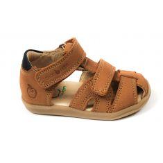 Shoo Pom sandales garçon Pika marron à scratch