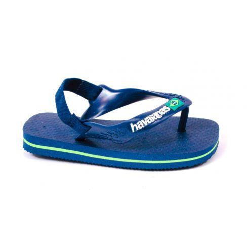 Havaianas Sandales de plage BABY BRASIL bleu marine attache arrière