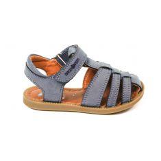 Shoo Pom sandales garçon Solar tonton bleues à scratch