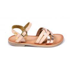GIOSEPPO sandales fille beiges et touche de glitter à boucle