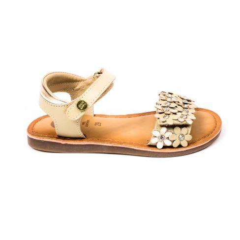 Sandales fille Gioseppo beiges avec motif fleurs et scratch