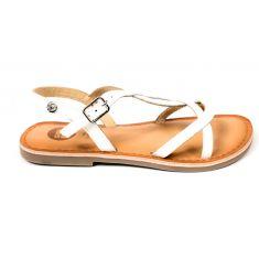 GIOSEPPO sandales blanches à boucle pour fille