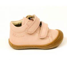 Naturino COCOON Chaussures bébé premiers pas souple fille en cuir beige nacré