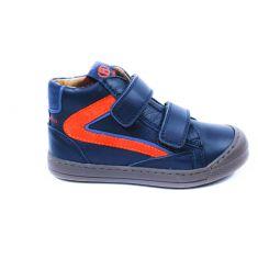 Babybotte Boots en cuir velcro pour garçon  bleu marine KARS