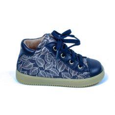 Babybotte Boots fille premiers pas à lacet bleu marine FRANCINE