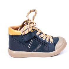 GBB Boots souples noir à lacets et fermeture pour garçon ANATOLE