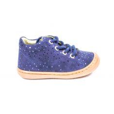 BELLAMY chaussures 1er pas souple PRINCESSE avec lacet bleu marine