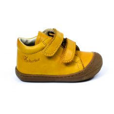 Naturino bottines garçon COCOON jaune maïs à scratch