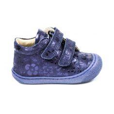 Naturino COCOON à scratch chaussures bébé premiers pas souple fille en cuir imprimé fleur