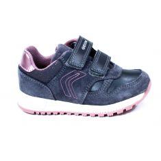 Geox Baskets Sneakers B ALBEN GIRL gris foncé à scratch