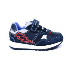 GEOX Sneakers Baskets B ALBEN bleu foncé à scratch