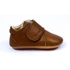 Froddo Prewalkers - Chaussures bébé garçon pré-marche en cuir souple cognac