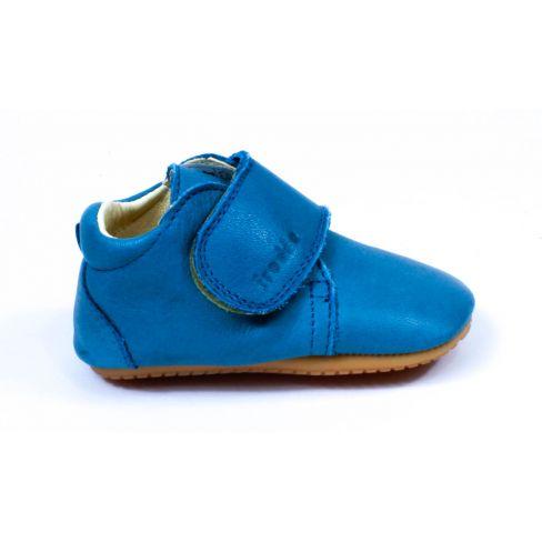 Froddo Prewalkers - Chaussures bébé garçon pré-marche en cuir souple bleu gris