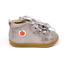 Shoopom Bouba zippy Boots fille or à lacet et fermeture