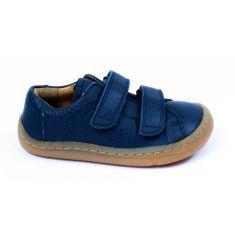 Froddo Baskets basses cuir bleu marine à scratchs garçon - Chaussant souple