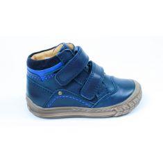 Froddo Chaussures hautes cuir bleu marine à scratchs garçon