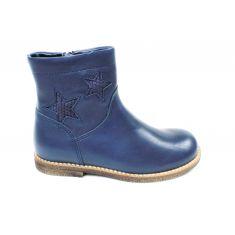 Froddo bottines fille Dark blue motif étoile à fermeture éclair et élastique