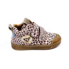 Froddo bottines fille imprimé rose léopard à scratchs