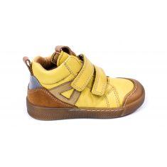 Baskets hautes cuir jaune maïs à scratchs garçon Froddo