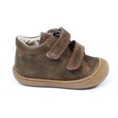 Naturino COCOON Chaussures bébé velcro premiers pas souple marron garçon en cuir