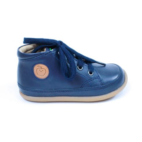 Shoo Pom chaussures 1er pas CUPY ZIP LACE à lacet et fermeture bleu marine