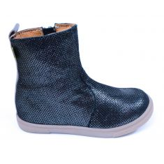 GBB Low boots fille cuir bleu marine ERNA