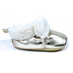 Shoo Pom Chaussons fille  Shoo Fur platine fourré peau de mouton