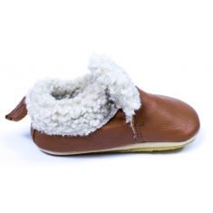 Shoo Pom Chaussons garçon  Shoo Fur camel fourré peau de mouton