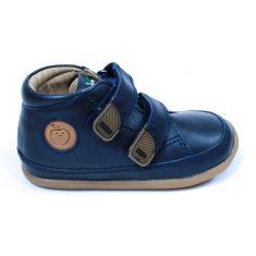 Shoo Pom chaussures 1er pas CUPY ZIP LACE à scratch bleu marine