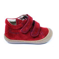 Naturino COCOON Chaussures bébé velcro premiers pas souple rouge grenade garçon en nubuck