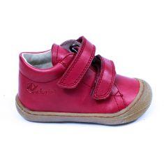 Naturino COCOON Chaussures bébé velcro premiers pas souple rouge grenade garçon en cuir