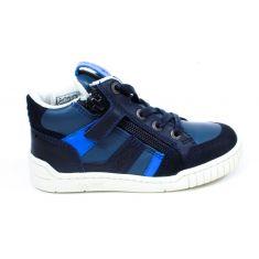 Kickers Sneakers garçon à lacet et fermeture bleu gris WINCKY