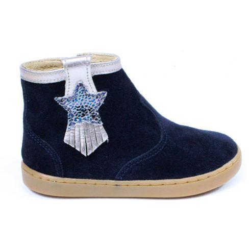 Shoo Pom bottines PLAY KID bleu nubuck à fermeture éclair pour fille