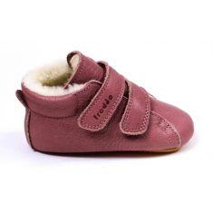 Froddo Prewalkers fourré laine - Chaussures bébé fille pré-marche en cuir souple rose