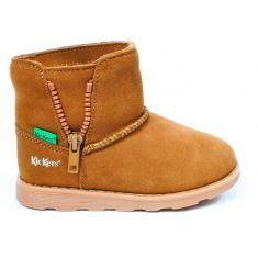 KICKERS Boots fourrées à fermeture camel  ALDIZA
