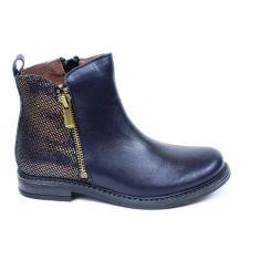 Bellamy chaussure - Boots fille bleues à fermeture ECRIN
