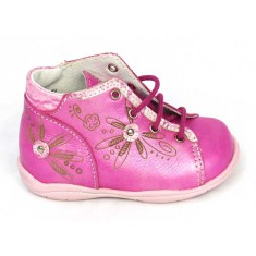 Boots à lacets MARJORIE fuchsia - Little mary