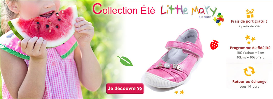 Collection été Chaussures Little Mary