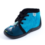 Chaussons turquoise Babybotte MAMOUT2