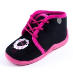 Chaussons noir fille Babybotte MAMOUT1