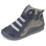 Baskets  cuir garçon bleu  Garvalin 151454A