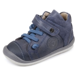 Baskets garçon cuir bleu  151451A Garvalin